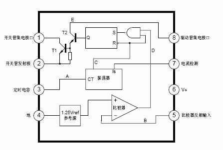mc34063 dc-dc变换控制电路